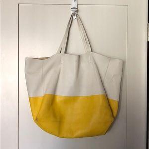 Celine Cabas Tote Bag Bi-Color East West
